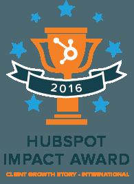 Our inbound marketing award from HubSpot