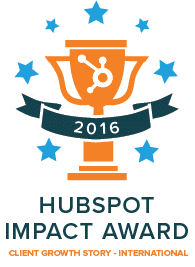 Our inbound marketing award from HubSpot
