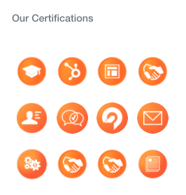 Our HubSpot partner agency certifications