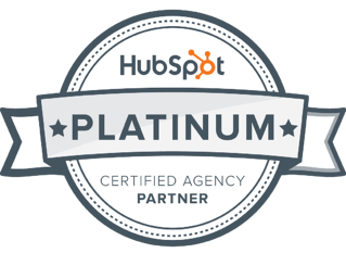 Check out our sparkly new platinum HubSpot partner badge!