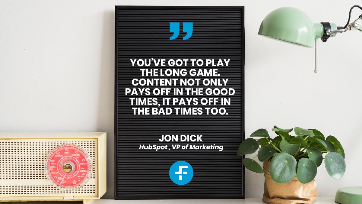 An interview with HubSpot's Jon Dick on business post Covid-19 & Hubspot